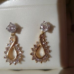 Jewelry - 14k real diamonds earrings and diamonds jackets